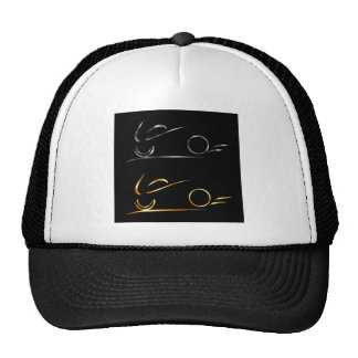 Abstract drawing of motorbike cap