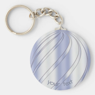 Abstract dynamic spiral texture.text. key ring