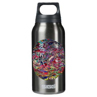 Abstract Eagle Bass and Bear Tribal Art Insulated Water Bottle