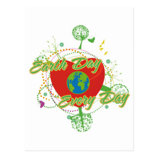 Abstract Earth Day Postcard