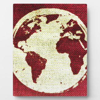 Abstract Earth Photo Plaques