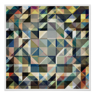 Abstract Earth Tone Grid Poster