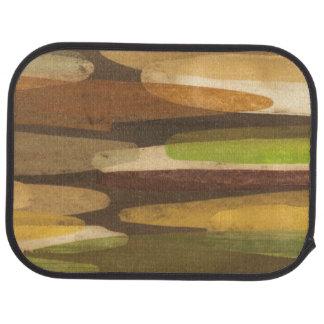 Abstract Earth Tone Landscape Car Mat