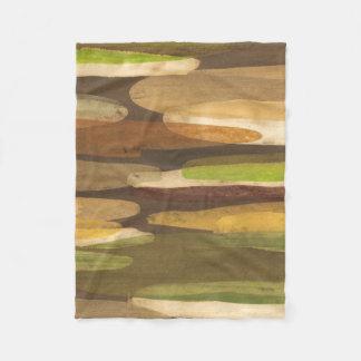 Abstract Earth Tone Landscape Fleece Blanket