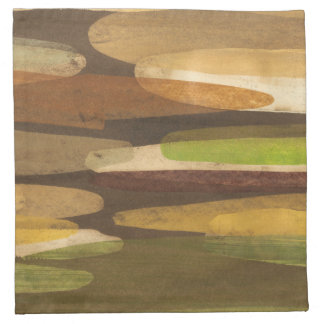 Abstract Earth Tone Landscape Napkin