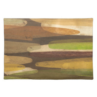 Abstract Earth Tone Landscape Placemat