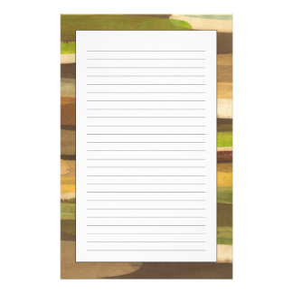 Abstract Earth Tone Landscape Stationery