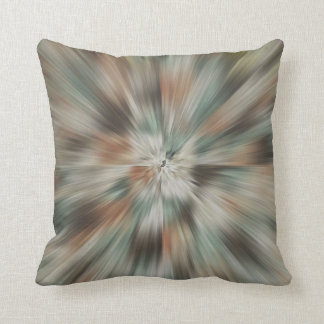 Abstract Earth Tones Tie Dye Cushion