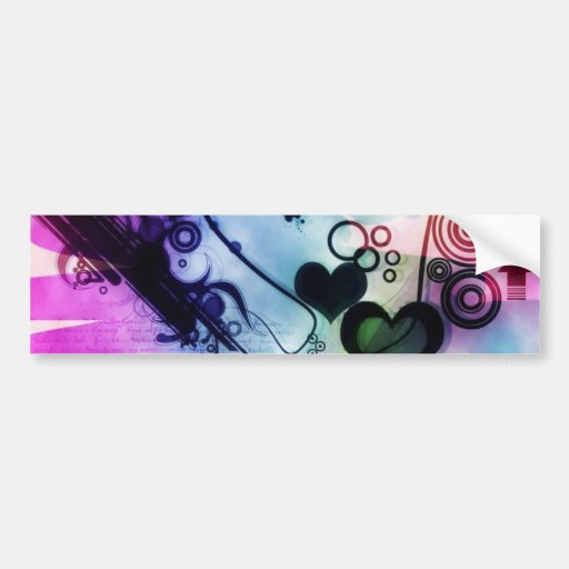 Abstract Ecig Bumper Stickers