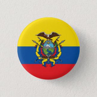 Abstract Ecuador Flag, Republic of Ecuador Button