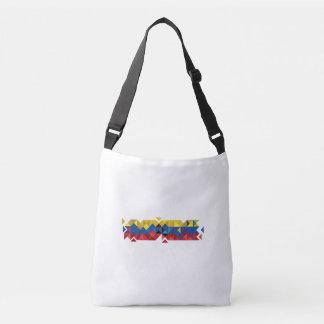 Abstract Ecuador Flag, Republic of Ecuador Colors Crossbody Bag