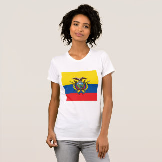 Abstract Ecuador Flag, Republic of Ecuador Colors T-Shirt