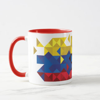 Abstract Ecuador Flag, Republic of Ecuador PolyMug Mug
