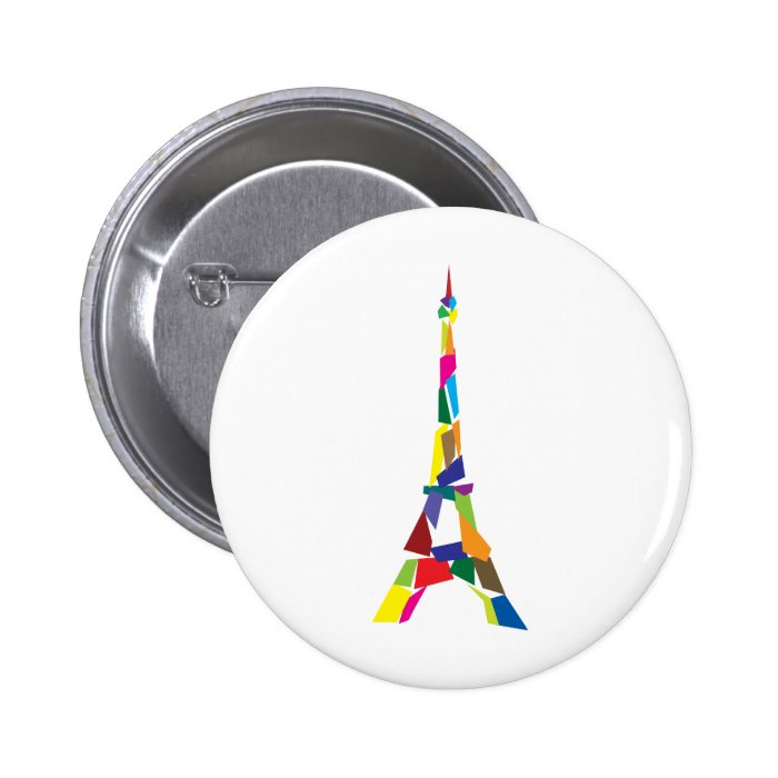Abstract Eiffel Tower, France, Paris 6 Cm Round Badge