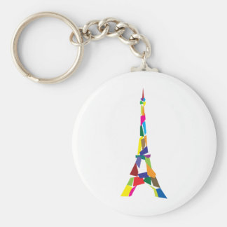 Abstract Eiffel Tower, France, Paris Key Ring