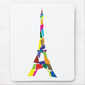 Abstract Eiffel Tower, France, Paris Mouse Mat