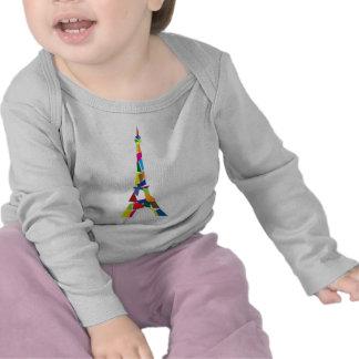 Abstract Eiffel Tower, France, Paris Tshirts
