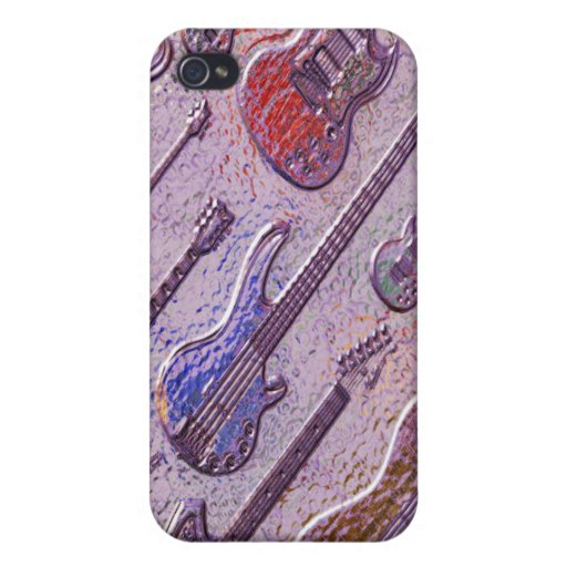 Abstract Electric Guitars  Case For iPhone 4