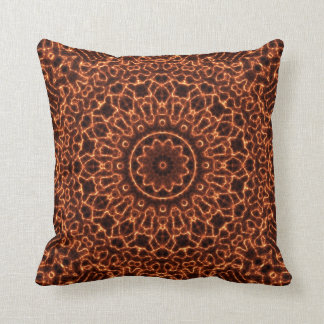 Abstract Electric Waves Mandala Design Cushion