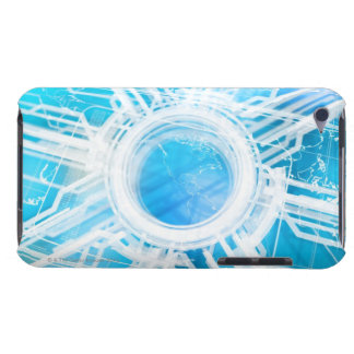Abstract electronic path Case-Mate iPod touch case