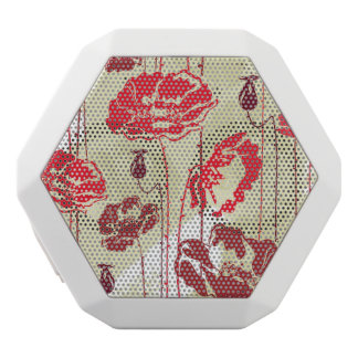 Abstract Elegance floral pattern 2 White Boombot Rex Bluetooth Speaker