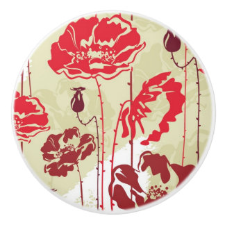 Abstract Elegance floral pattern 2 Ceramic Knob