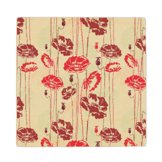 Abstract Elegance floral pattern 2 Wood Coaster