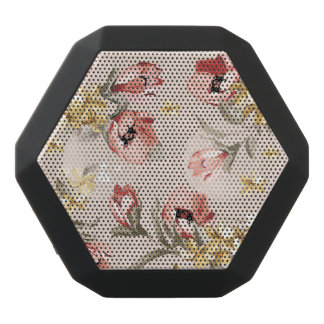 Abstract Elegance floral pattern 3 Black Bluetooth Speaker