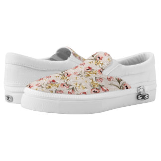 Abstract Elegance floral pattern 3 Slip-On Shoes