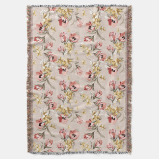 Abstract Elegance floral pattern 3 Throw Blanket