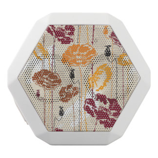 Abstract Elegance floral pattern 4 White Boombot Rex Bluetooth Speaker