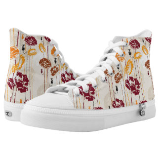 Abstract Elegance floral pattern 4 High Tops