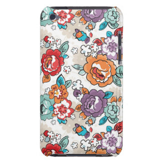 Abstract Elegance floral pattern 5 Barely There iPod Cases
