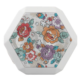 Abstract Elegance floral pattern 5 White Boombot Rex Bluetooth Speaker