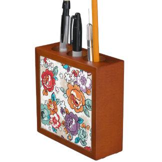 Abstract Elegance floral pattern 5 Desk Organiser