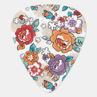 Abstract Elegance floral pattern 5 Plectrum