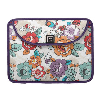 Abstract Elegance floral pattern 5 Sleeve For MacBooks