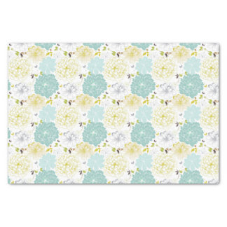 Abstract Elegance floral pattern Tissue Paper