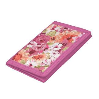 Abstract Elegant Floral design Tri-fold Wallet