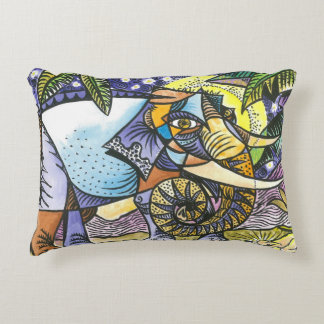 Abstract elephant accent pillow