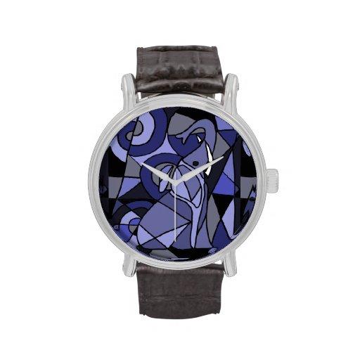 Abstract Elephant Art Watch