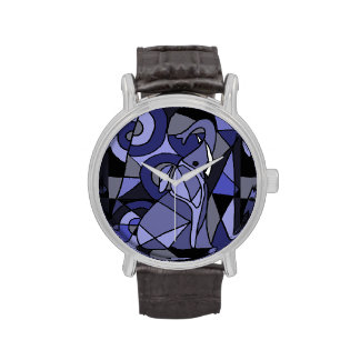 Abstract Elephant Art Watch