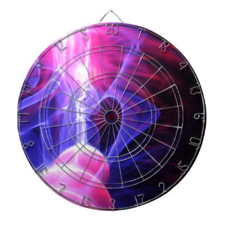 Abstract energy background dartboard with darts