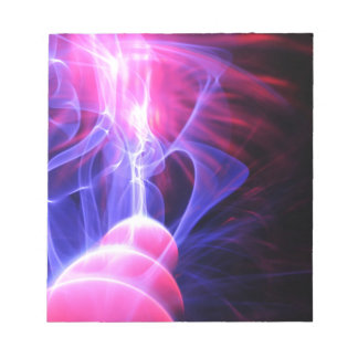 Abstract energy background notepad