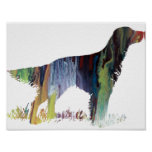 Abstract English setter silhouette Poster