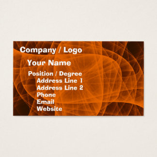 Abstract Eternal Rounded Cross in Orange Business Card