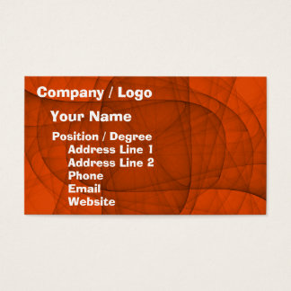 Abstract Eternal Rounded Cross in Red Business Card