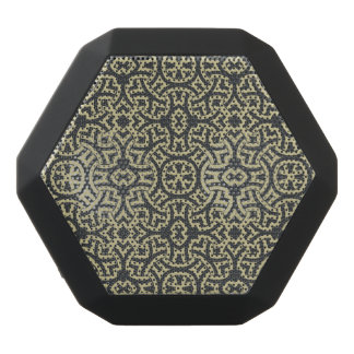 Abstract ethnic background 2 black bluetooth speaker