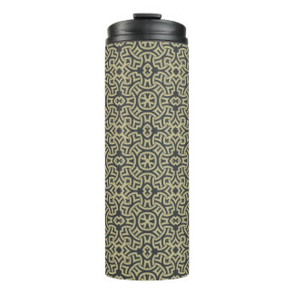 Abstract ethnic background 2 thermal tumbler