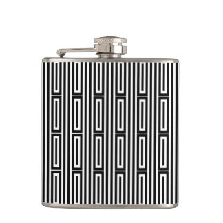 Abstract ethnic background hip flask